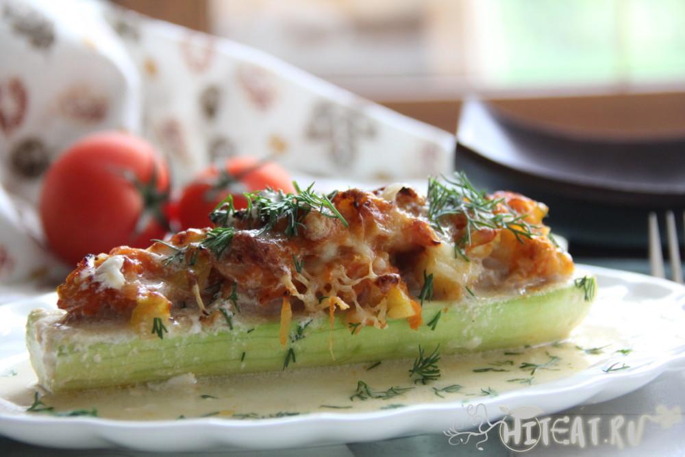 Кабачки с фаршем запеченные в духовке — пошаговый рецепт фаршированных кабачков