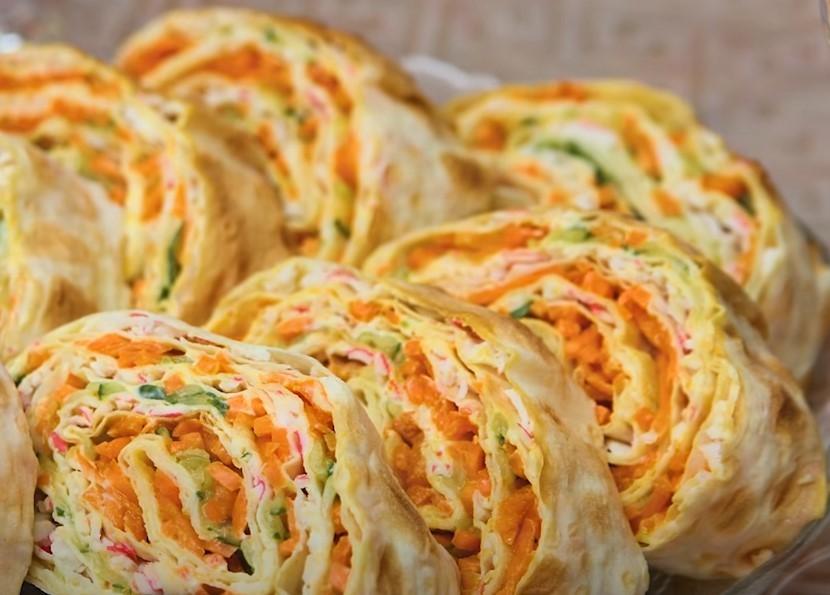 Начинки для рулетов из лаваша — простые и вкусные рецепты